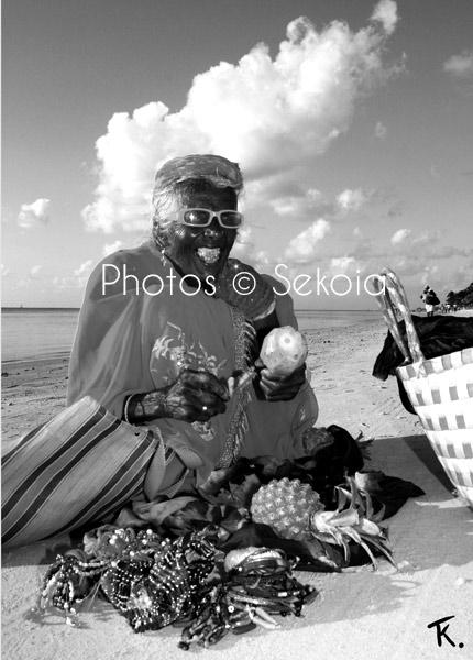 Ile Maurice noir et blanc Portrait