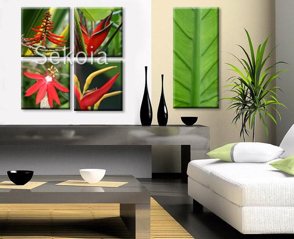 Tableaux fleurs tropicales