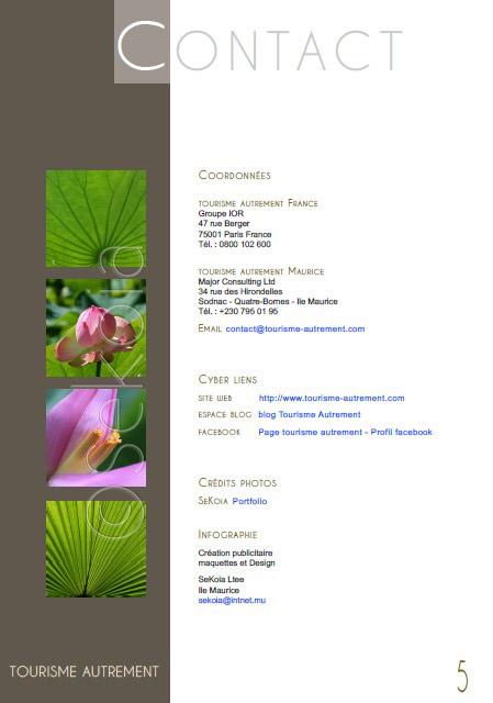 PAO ile Maurice - PDF entreprise
