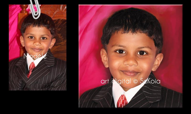 Portraits peinture digitale