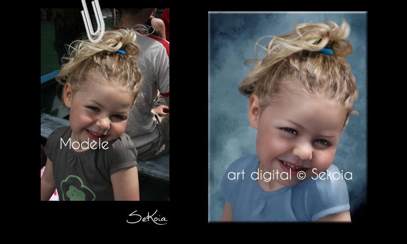 Peinture digitale Portrait