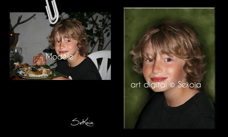 Portrait peinture digitale