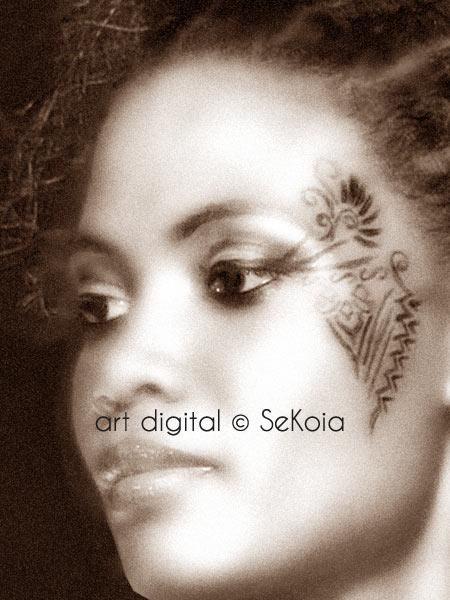 Portrait vintage sepia