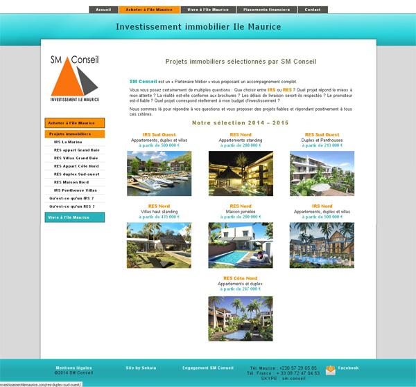 Site web ile maurice