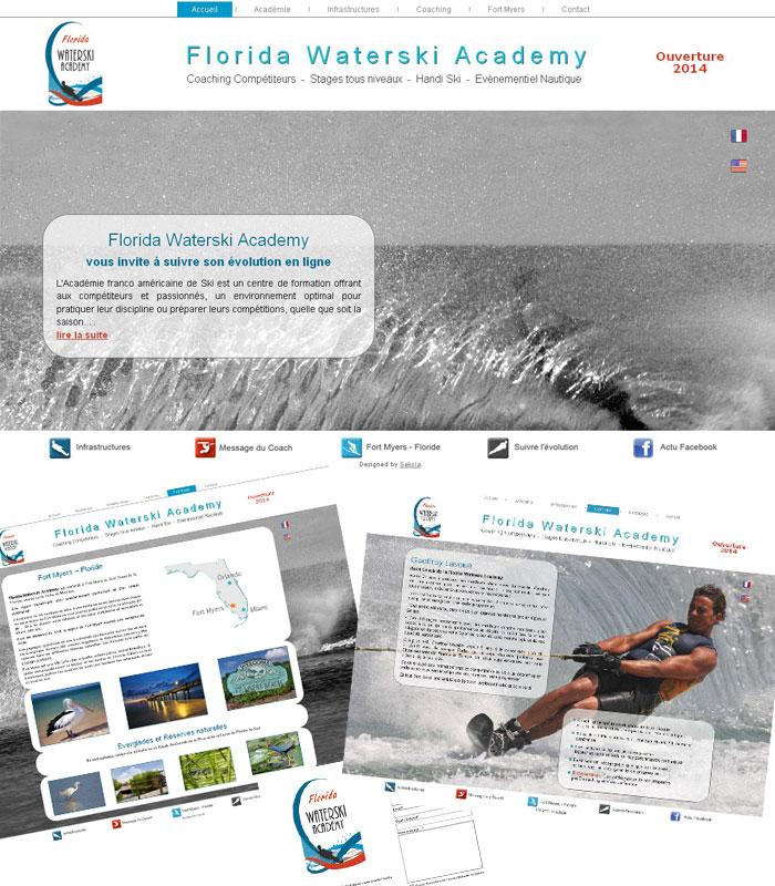 Site web académie ski nautique